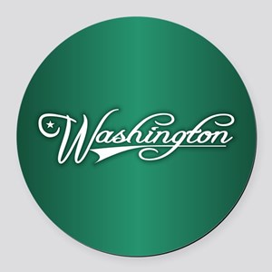 Washington State of Mine Round Car Magnet