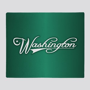 Washington State of Mine Throw Blanket