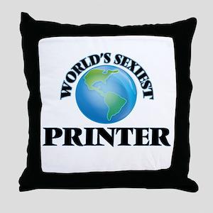 World's Sexiest Printer Throw Pillow