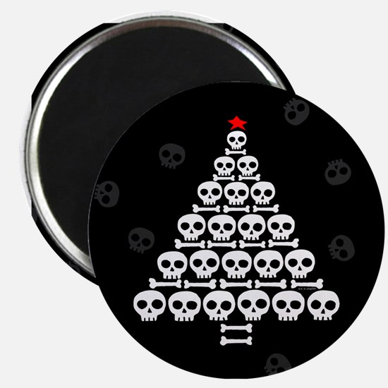 Skull Xmas Tree Magnet