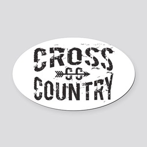 cross country Oval Car Magnet