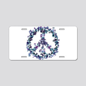 Harmony Flower Peace Aluminum License Plate