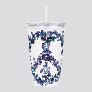 Harmony Flower Peace Acrylic Double-wall Tumbler