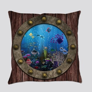 Underwater Love Porthole Master Pillow