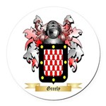 Greely Round Car Magnet
