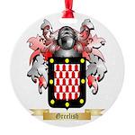 Greelish Round Ornament
