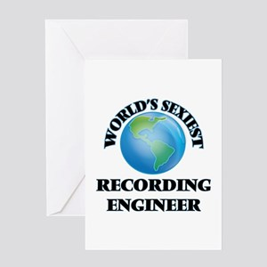 World's Sexiest Recording Engineer Greeting Cards