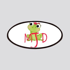 Adorable Frog, And Initials Patch