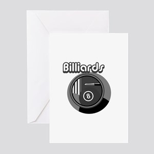 Black and White Pool Blliards Logo Greeting Cards