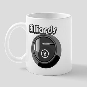 Black and White Pool Blliards Logo Mug