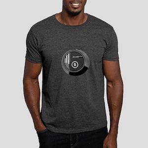 Black and White Pool Blliards Logo Dark T-Shirt