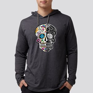 skull-day-of-dead-decorated-ca Long Sleeve T-Shirt