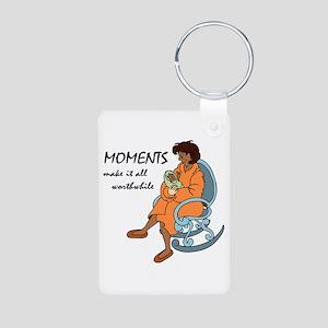 Moments Make it All Worthw Aluminum Photo Keychain