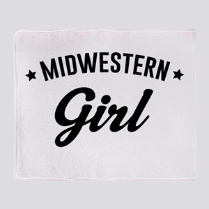 Midwestern Girl Throw Blanket