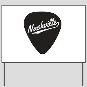 Nashville Guitar Pick Yard Sign