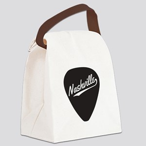 Nashville Guitar Pick Canvas Lunch Bag