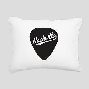 Nashville Guitar Pick Rectangular Canvas Pillow