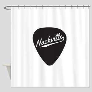 Nashville Guitar Pick Shower Curtain