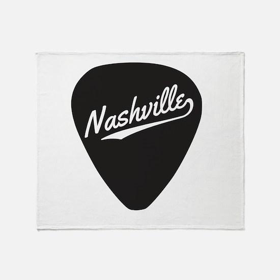 Nashville Guitar Pick Throw Blanket