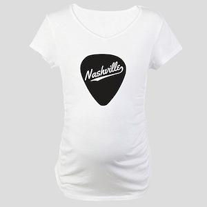 Nashville Guitar Pick Maternity T-Shirt