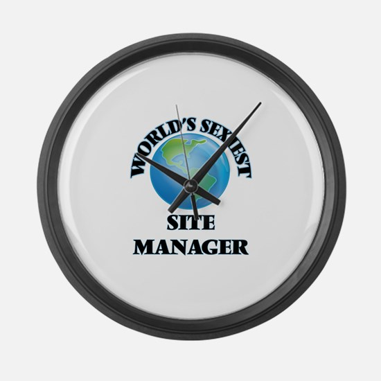 World's Sexiest Site Manager Large Wall Clock