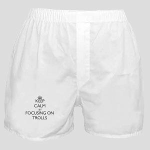 Keep Calm by focusing on Trolls Boxer Shorts