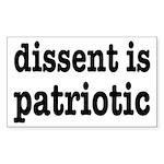 Dissent Is Patriotic Sticker (Rectangle 10 pk)