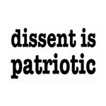 Dissent Is Patriotic 35x21 Wall Decal