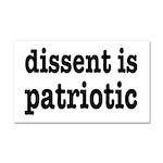 Dissent Is Patriotic Car Magnet 20 x 12