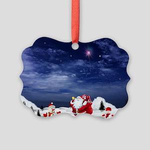 Santa_potholder Picture Ornament