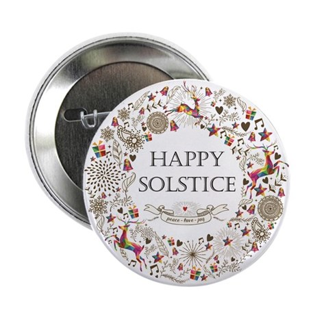 """Happy Solstice 2.25"""" Button (10 Pack)"""