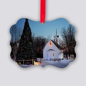 Christmas Church Picture Ornament