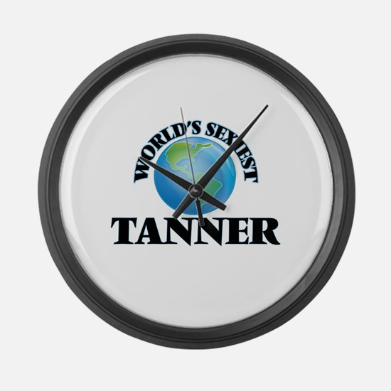 World's Sexiest Tanner Large Wall Clock