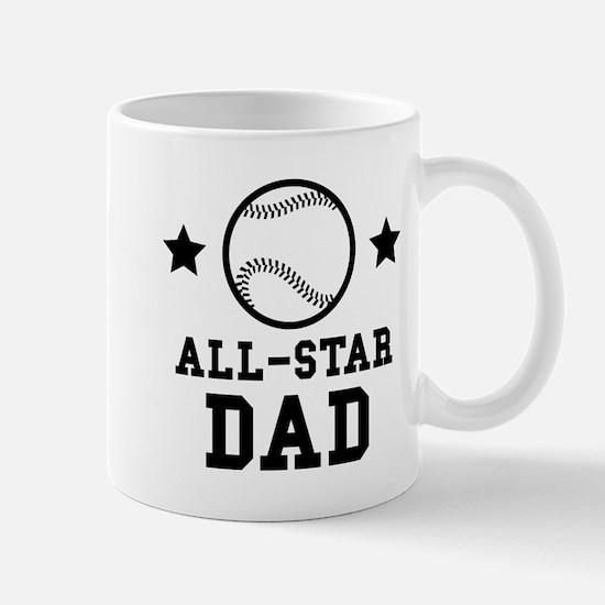 All Star Baseball Dad Mugs