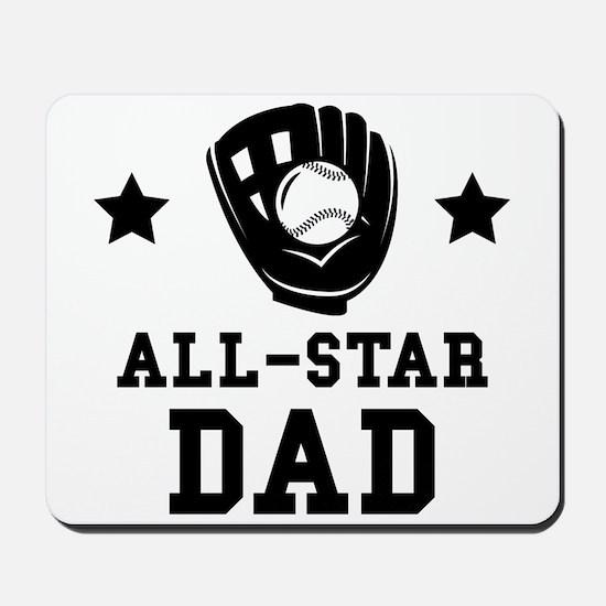 All Star Softball Dad Mousepad