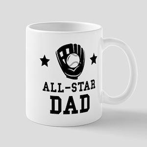 All Star Softball Dad Mugs