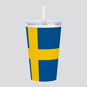 Sweden Flag Acrylic Double-Wall Tumbler