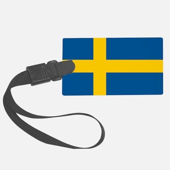 Sweden Flag Large Luggage Tag