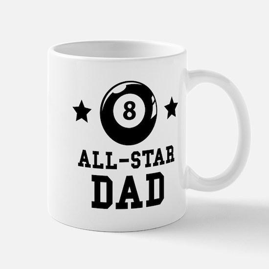 All Star Billiards Dad Mugs