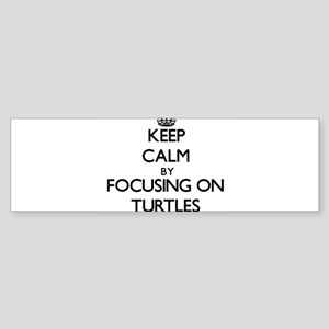 Keep Calm by focusing on Turtles Bumper Sticker