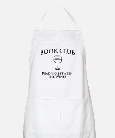 Book Club Reading Between The Wines. Apron