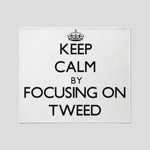 Keep Calm by focusing on Tweed Throw Blanket