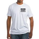 Ring Bearer Nametag (black) Fitted T-Shirt