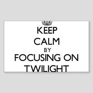 Keep Calm by focusing on Twilight Sticker