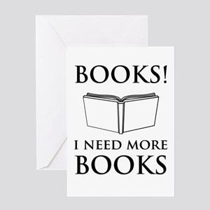 Books! I need more books. Greeting Cards