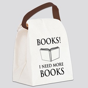 Books! I need more books. Canvas Lunch Bag