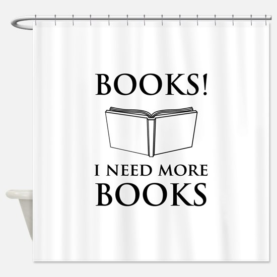Books! I need more books. Shower Curtain