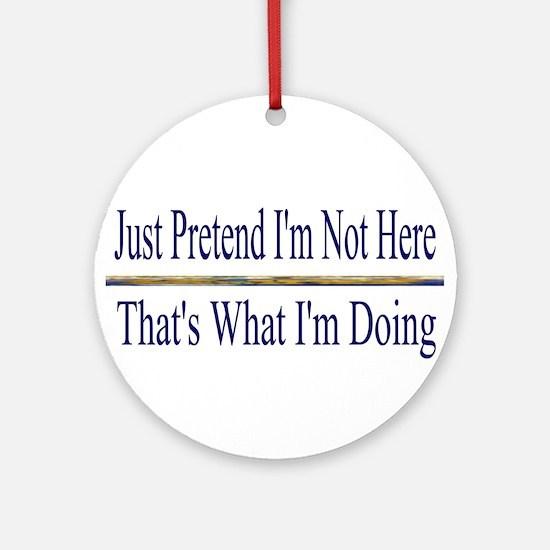 Pretend  Ornament (Round)