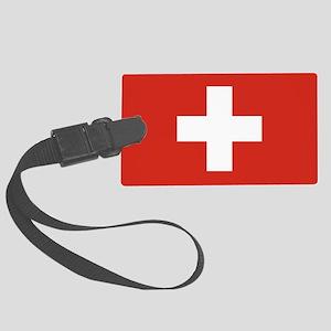 Switzerland Flag Large Luggage Tag