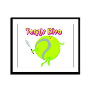 Tennis Ball Diva Framed Panel Print